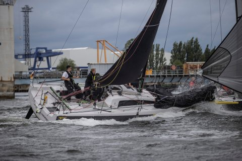 fast sailing boats on the baltic