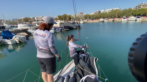 Evi Delidou mixed Offshore sailing girls team Aether