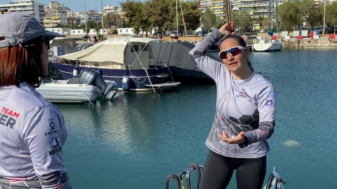 Evi Delidou Offshore Racing offshore sailing Training Team Aether