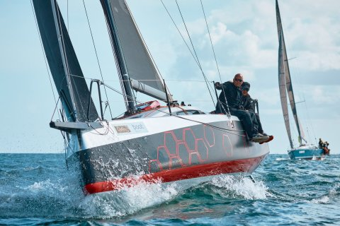 Dehler 30 one design Kieler Woche 2020 Hiking out