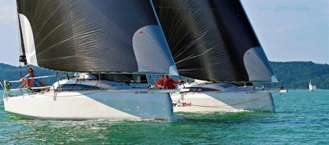 Dehler 30 one design match racing in Hungary