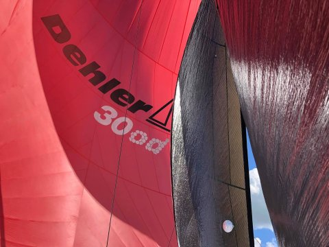 Dehler 30 one design red colors