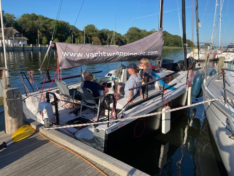 Playtime family sailing and relaxing