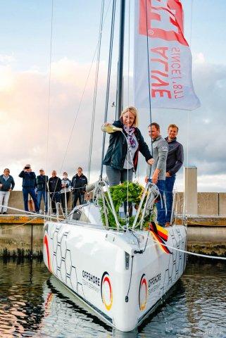 Dehler 30 one design christening of race boat