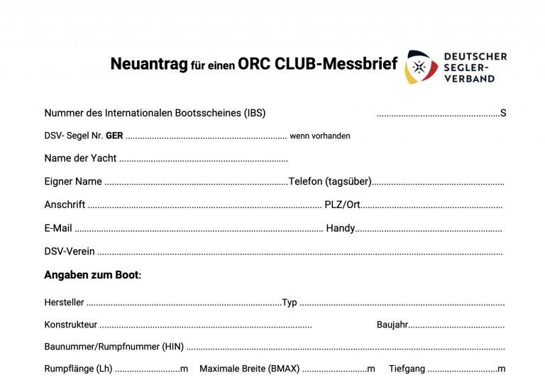 ORC Club Messbrief