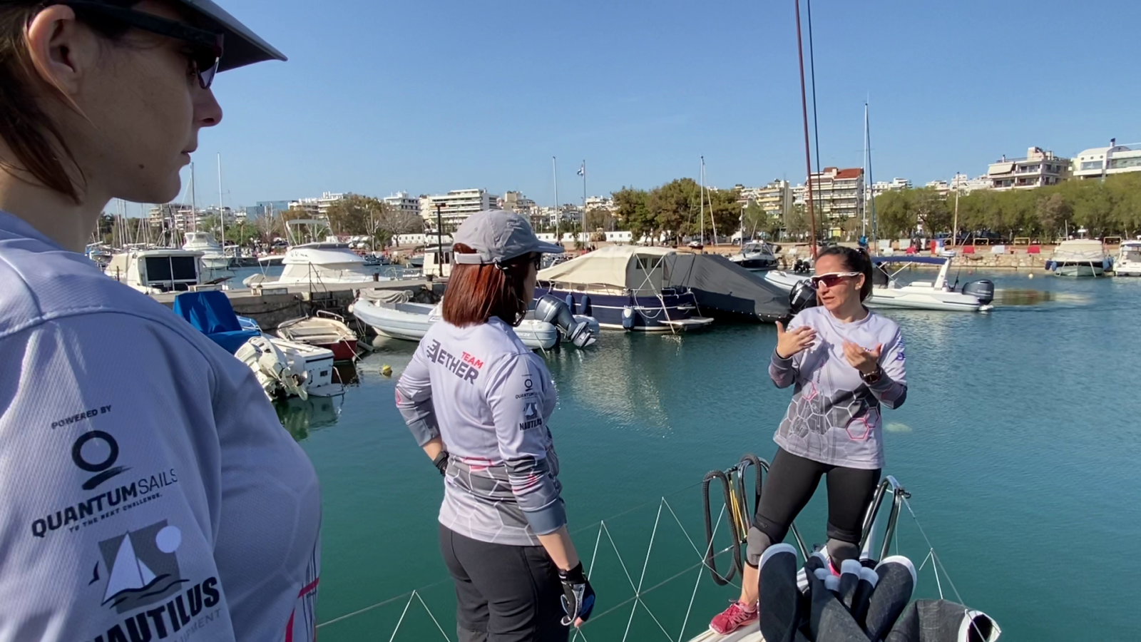 Evi Delidou Offshore Racing Training girls Aether talk